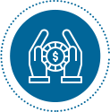icon of hand holding dollar coin