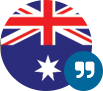 Australian Flag with quotation marks